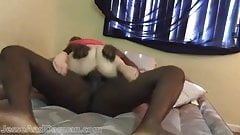 Interracial sex loving couple fucks