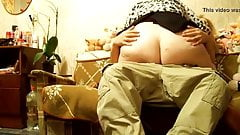 BBW Granny riding on young dick