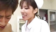 Oriental Nurse Does Not Hesitate On The Cock