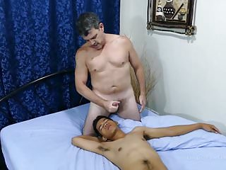 Preview 6 of Daddy Bareback Fucks Asian Boy Marcon