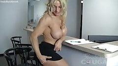 Yvonne Entertains A Waiting Client