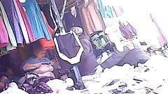 The Granny try on bra! Amateur hidden cam!