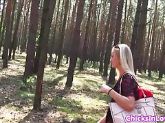 Outdoor euro amateurs having lesbian fun