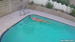 Pool Boy Anal Fucks a Busty MILF in her Backyard