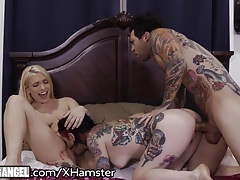 Joanna Angel and Small Hands Fuck the Babysitter HARD!