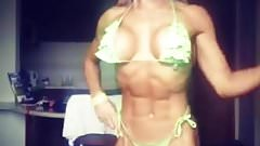 lady sexy   muscle hot  fitness