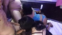2 Sissies in Gangbang