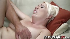 Good looking mature woman is eager to fuck her boy toy