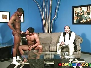 Preview 3 of Amateur guy gets assfucked by black thugs