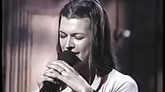 Milla Jovovich (No Bra) Singing