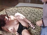 Pretty redheaded wife gets her tight ass fucked in front of her husband