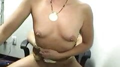 Sexy Brunette enjoys sex