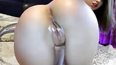 Stretched her ass hole open