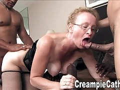 Sloppy Creampie For Milf