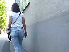 2 Girls Red Dresses & 1 Ass In Jeans Candid 25.04.2018.'s Thumb