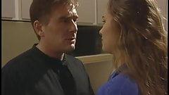 Hot irresistable brunette plays it safe with her man, cumshot