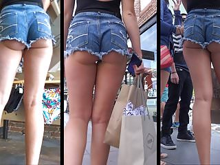 TEEN WITH ASS CHEEKS HANGING OUT OF SHORTS