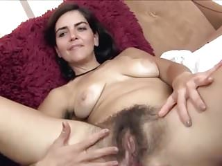 Showing off her delicious hairy holes