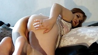 Mature Woman With Young Lover In Anal Creampie