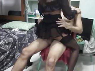 Naughty Filipina maid rides stiff cock of her boss