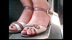 candid moldavian mature feet. in bus closeup 29.06.2017 HD