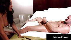 MaxineX Orders Cuckold Hubby To Watch Her Fuck Another Man!