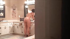 Wife After Shower (Window Spying) 2