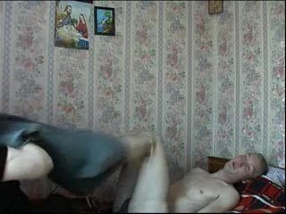 Russian MILF have fun in all holes 99%