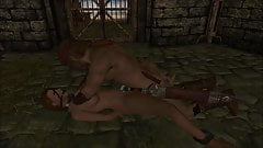 Elisif nude and helpless in Skyrim pt1