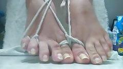 long toenails toes bondage