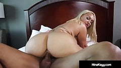 Krazy Nympho Nina Kayy Banged DoggyStyle By Big Black Cock!