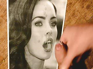 Preview 6 of cum tribute on Megan Fox