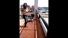 Polish Teen strips on Balcony
