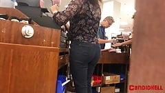 Bubble Butt Latina Teen at Work - Candid