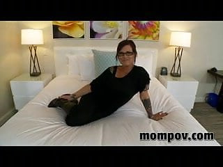 Brunette blowjob instructor does first porn