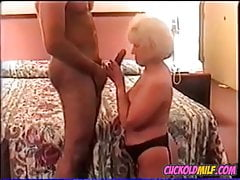 Cuckold Granny MILF BBC drilling her ass Sissy cleans up aft