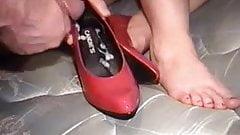 Cum inside shoes!
