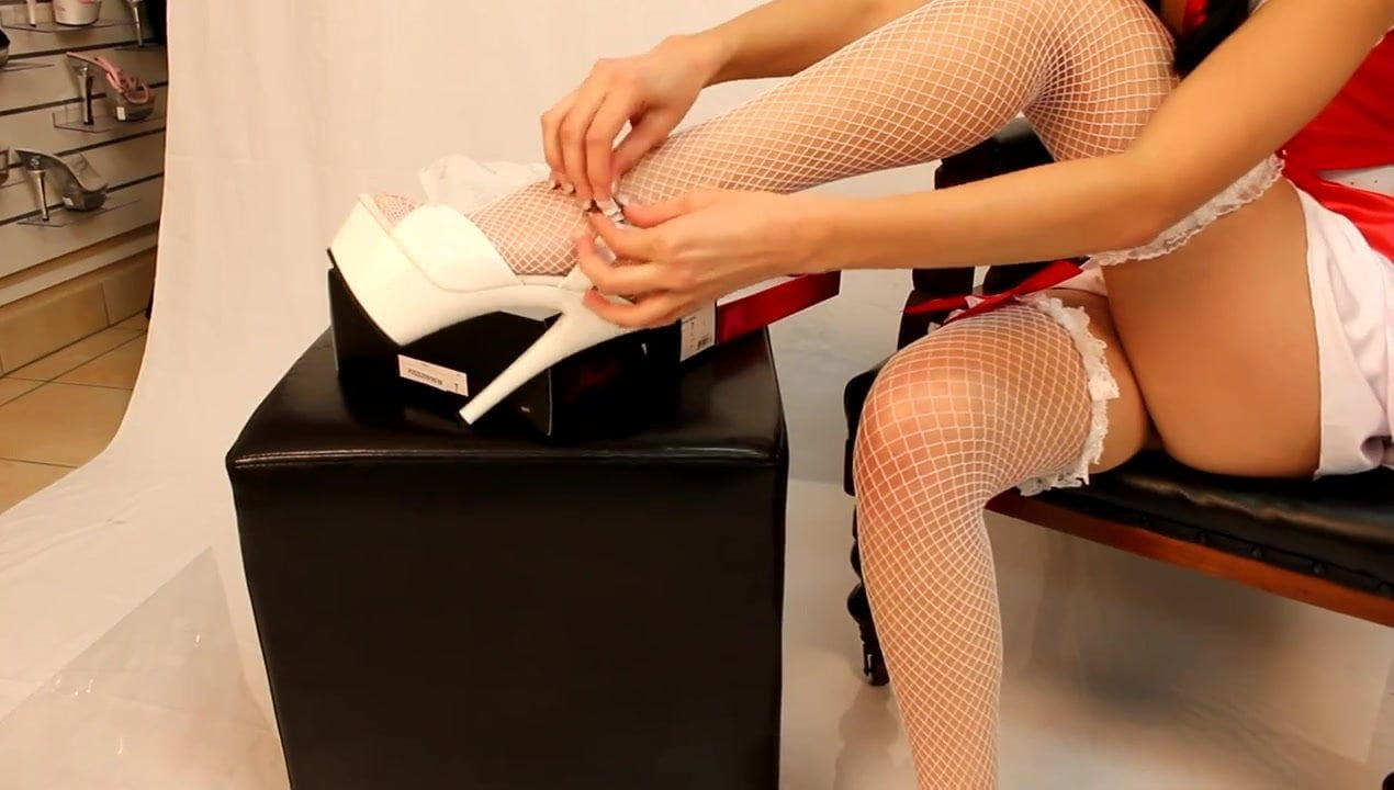 Sexy apparels nurse fishnet and heels - 2 1