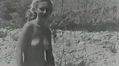 Blonde Sunbathing Hairy Naturist Girl (1950s Vintage)