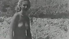 Blonde Sunbathing Hairy Naturist Girl (1950s Vintage)
