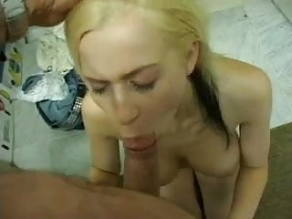Hot busty blonde with perfect boobs gets fucked rough