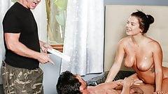 Stepdad and Uncle enjoy massage by Keisha Grey