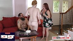 Wife Plays Stripper Games with Her Husband and Best Friend