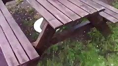 cum in public park