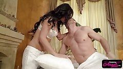 Tranny babe Chanel Santini pounding handsome studs tight ass