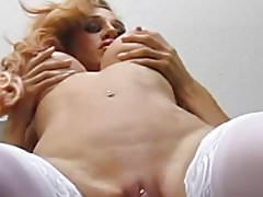 Lesbian Tit Play and Pussy Eating