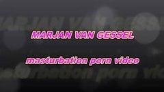 mature milf Marjan van Gessil masturbating to orgasm