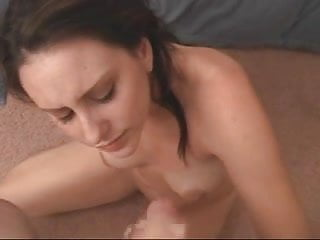 Cute girl giving head and getting fucked