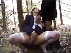 Nadine Interracial Anal Fuck Outdoor & Indoor
