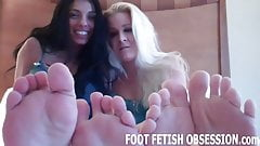 Blow a hot load all over my feet